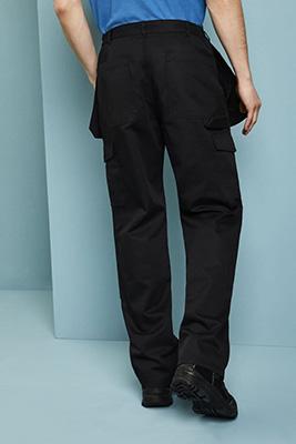Pantalon de travail avec poches holster et genouillères, Long, Noir2