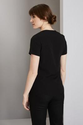 Wrap Front Blouse, Black