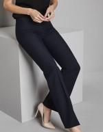 Pantalon femme bootcut (bas terminés: 77cm), Bleu marine