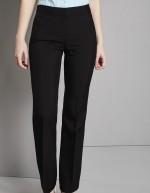 Pantalon femme bootcut (bas terminés: 77cm), Noir