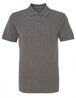 Asquith & Fox Men's Cotton Polo Shirt, Charcoal