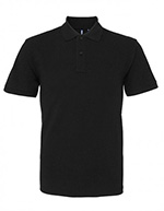 Asquith & Fox Men's Cotton Polo Shirt, Black