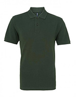 Asquith & Fox Men's Cotton Polo Shirt, Bottle Green