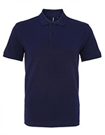 Asquith & Fox Men's Cotton Polo Shirt, Navy