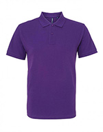 Asquith & Fox Men's Cotton Polo Shirt, Purple