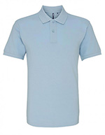 Asquith & Fox Men's Cotton Polo Shirt, Pale Blue