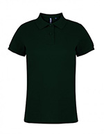 Asquith & Fox Women's Cotton Polo Shirt, Bottle Green