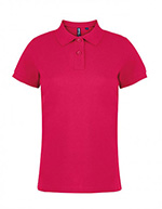 Asquith & Fox Women's Cotton Polo Shirt, Red