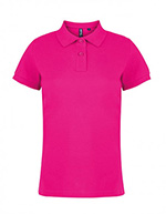 Asquith & Fox Women's Cotton Polo Shirt, Hot Pink