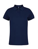 Asquith & Fox Women's Cotton Polo Shirt, Navy