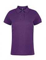 Asquith & Fox - Polo en coton pour femmes, violet