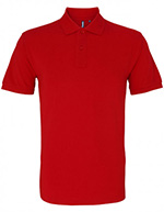 Asquith & Fox Men's Cotton Polo Shirt, Red