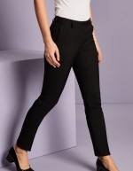 Pantalon femme Slim jambe, Select, Noir