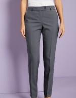 Qualitas pantalon style Slim jambe, femme, Graphite, Non ourlés