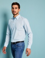 Chemise Motif Homme, Turquoise