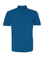 Asquith & Fox Men's Cotton Polo Shirt, Teal