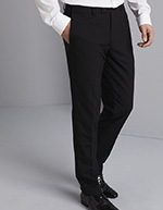 Qualitas Men's Tailored Fit Pants, Black, Regular