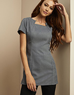 Shaped Neck Tunic, Grey