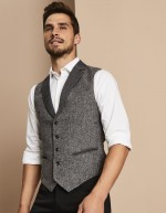 Veston Homme Tweed, Gris
