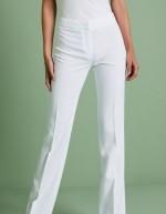 Pantalon femme bootcut, Blanc