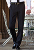 Mars Flat Front Trouser Black