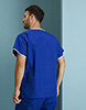 Men's Fitted Scrub Top, Royal/White