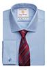 Prato Slim Fit Shirt Cotton Herringbone Blue H/B