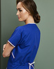 Ladies Fitted Scrub Top, Royal/White